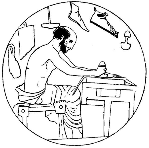 Figure 3 - Médaillon de coupe du peintre d'Euaichme, Londres             E 86