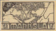 Figure 6 – Vignette de Janis Rozentāls, in             «Mahksla [Art]», , mai1904, n7, p.862 (coll. Bibliothèque nationale de             Lettonie)