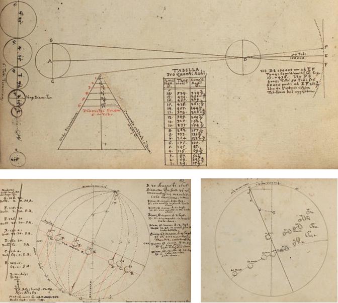 Figure 5 – [Daniel Mögling], , 1626-1630             (coll. Universitäts- und Landesbibliothek Darmstadt, HS228,             ff.2v; 12r; 36r)