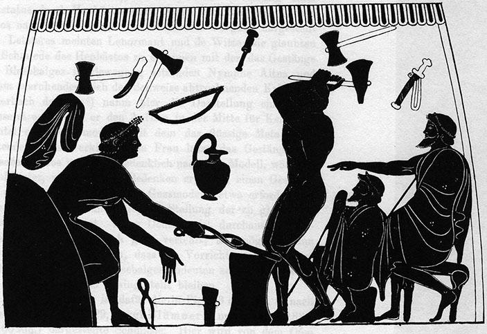 Figure 1a - Amphore à figures noires attribuée au peintre de             Plousios, Boston 08.8035