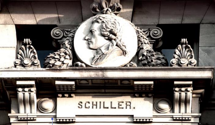 Figure 5 - Médaillon représentant Schiller (façade           ouest)