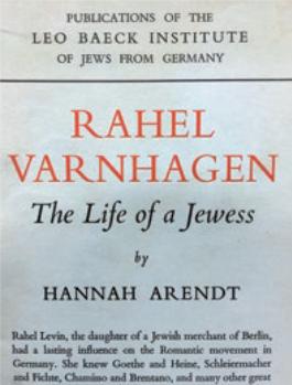 Figure 14 – Hannah Arendt,  (1957;           étude commencée en1930, interrompue après son départ d'Allemagne en           1933; coll. Institut Éric Weil).