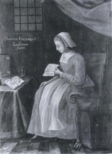 Figure 2 - Portrait de Dorothe Engelbretsdatter (1634-1716 ;           coll. Nationalhistoriske Museum, Frederiksborg)