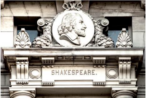 Figure 2 - Médaillon représentant Shakespeare (façade           ouest)