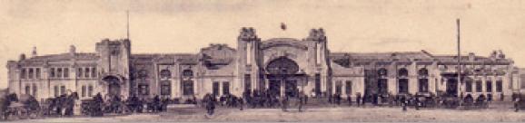 Figure 3 – Ignacy Cytowicz, gare de Harbin,           1903-05. Détail de carte postale