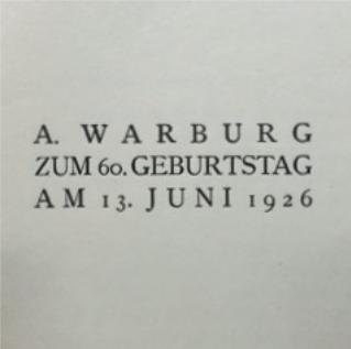 Figure 4 – La dédicace de à Aby Warburg (coll. Institut Éric           Weil).