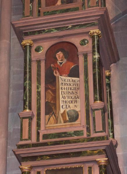 Figure 2 – Portrait de Nicolas Copernic par             Tobias Stimmer (Strasbourg, horloge astronomique de la             cathédrale)