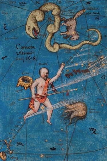 Figure 7 – Wilhelm Schickhard, traité sur             les comètes (coll. Württembergische Landesbibliothek             Stuttgart)