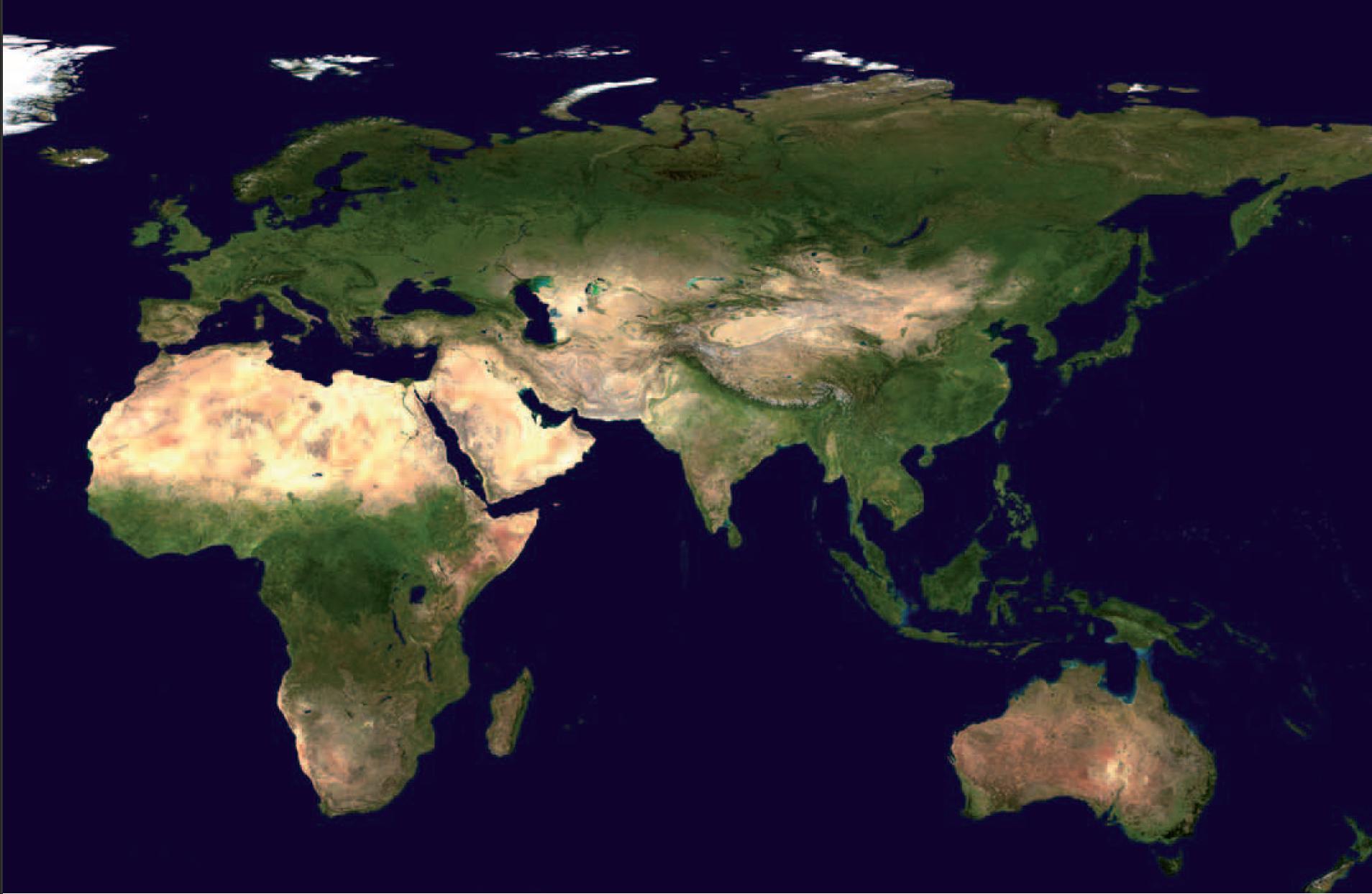 Figure 3 - Image satellitaire provenant du site           http://visibleearth.nasa.gov