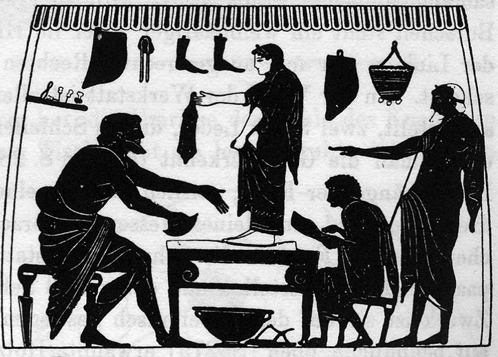 Figure 1b - Amphore à figures noires attribuée au peintre de             Plousios, Boston 08.8035