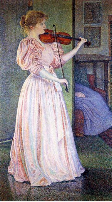 Figure 7 – Théo Van Rysselberghe, , 1894. Huile sur toile             (coll. Musée du Petit Palais, Genève)