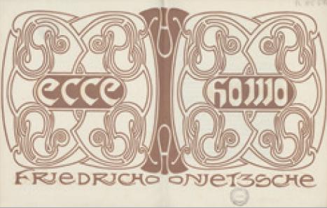 Figure 10 – Henry Van de Velde, couverture             pour Friedrich Nietzsche, ,             Leipzig, Insel Verlag, 1908 (coll. BNU)
