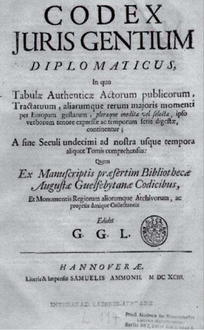 Figure 4 – Page de titre du  de1693 (coll.             Berlin– Brandenburgische Akademie der Wissenschaften)