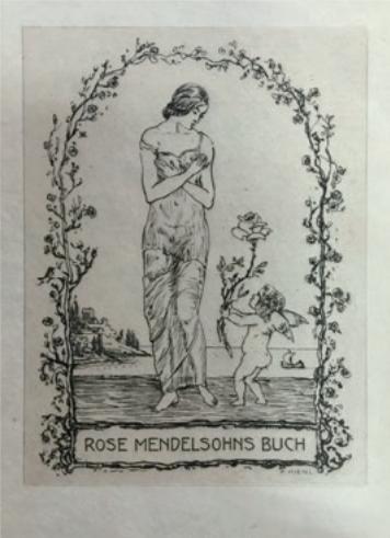 Figure 15 – L'ex–libris de la famille           Mendelsohn (coll. Institut Éric Weil).