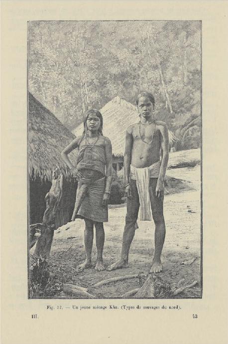 Figure 1 – Kha du Laos. Extrait de Cupet, . Paris:           Ernest Leroux, 1900, p.337 (coll. BNU)